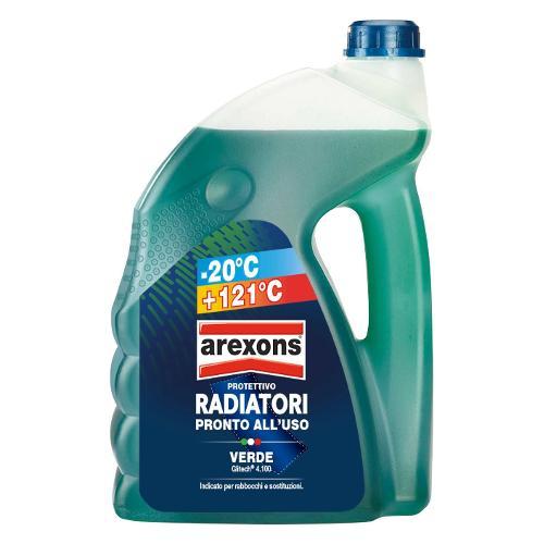 Liquido radiatore Arexons da -20° a 121°C Verde Tanica lt 4,5 8051