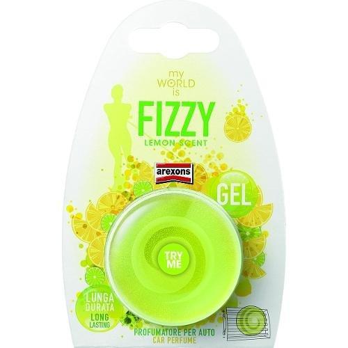 Profumatore auto Arexons Fizzy limone My World is Giallo 1507