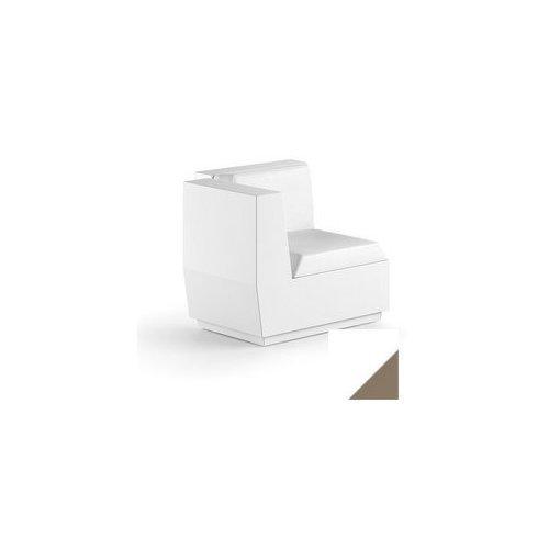 Modulo seduta per composizione divano angolo per uso esterno e interno Big-Cut Plust 6281-L8 81 x 81 x 73 cm finitura Bianco - tortora