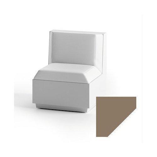 Modulo seduta per composizione divano per uso esterno e interno Big-Cut Plust 6280-M6 60 x 81 x 73 cm finitura Tortora - bianco