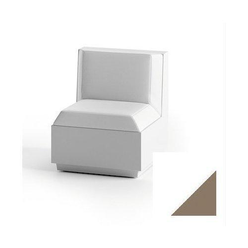 Modulo seduta per composizione divano per uso esterno e interno Big-Cut Plust 6280-L8 60 x 81 x 73 cm finitura Bianco - tortora