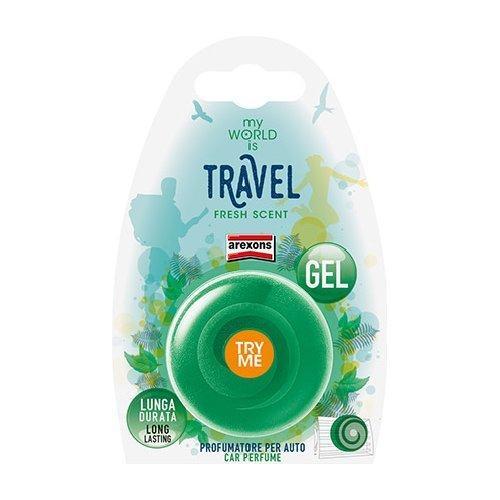 Profumatore auto Arexons Travel Fresh scent My World is Verde scuro 1409