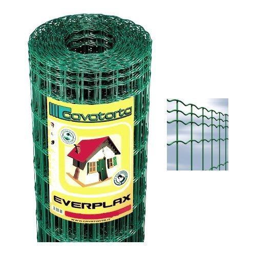 Rete recinzione Cavatorta filo acciaio zincato e plastificato Everplax verde alpi 2500 x 60  cm SO02060025B