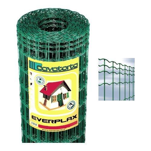 Rete recinzione Cavatorta filo acciaio zincato e plastificato Everplax verde alpi 25 x 1,2  m SO02120025B