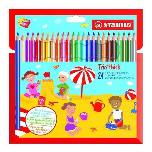 Matite colorate maxi per bambini cf. 24 pz Trio Thick Stabilo 203/2-24