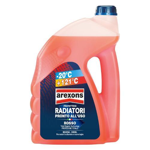 Liquido radiatore Arexons da -20° a 121°C Rosso Tanica lt 4,5 8013