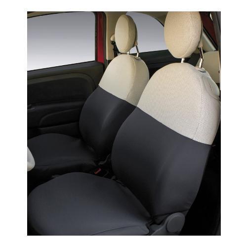 Coprisedili auto Co Ra Grigio piombo -  Crema 000129379