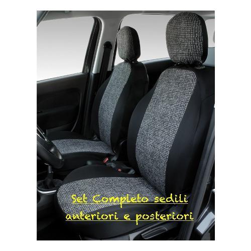 Coprisedili auto Co Ra Nero e Mosaico grigio 000129383
