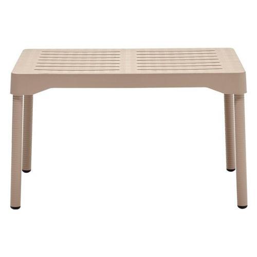Tavolino fisso esterno Scab Design olly 2195__15_ 74 x 56 x 44 cm Grigio tortora Olly