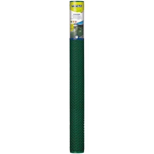 Rete recinzione Tenax hdpe polietilene ad alta densità Exagon verde 5 x 1  m 72040118