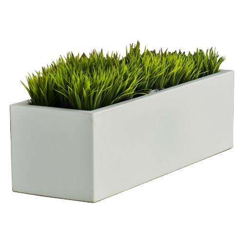 Cassetta piante Tomasucci Long Art. 2360 NewGarden polietilene bianco 100 x 35 x 31  cm
