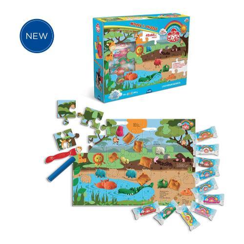 Set modella e gioca Model & Puzzle Didò Fila 345400