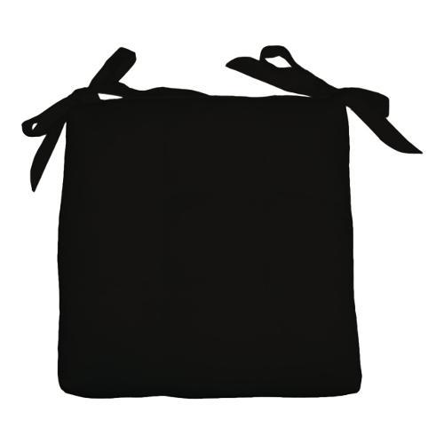 Cuscino sedia Olibò Cuscino Soft con lacci 40x40xh6 cm Nero