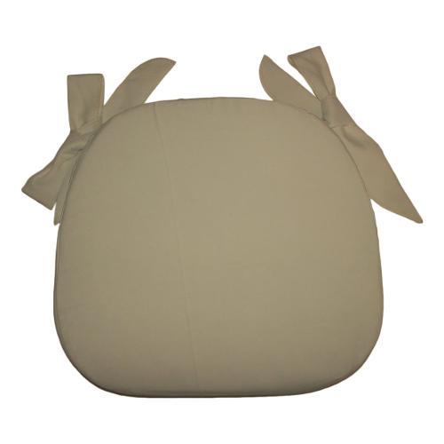 Cuscino sedia Olibò Cuscino Sagomato con lacci Ecrù