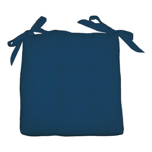 Cuscino sedia Olibò Cuscino Soft con lacci 40x40xh6 cm Blu