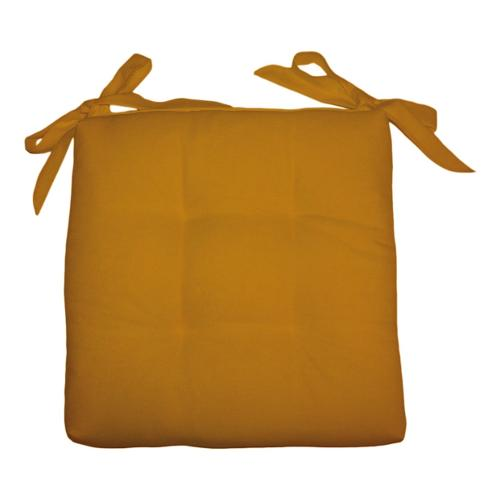 Cuscino sedia Olibò Cuscino Soft con lacci 40x40xh6 cm Giallo