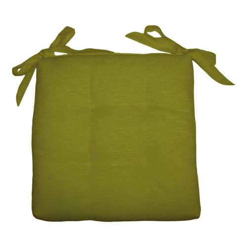 Cuscino sedia Olibò Cuscino Soft con lacci 40x40xh6 cm Verde
