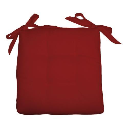 Cuscino sedia Olibò Cuscino Soft con lacci 40x40xh6 cm Bordeaux