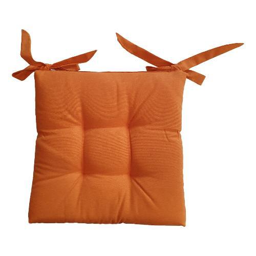 Cuscino sedia Olibò Cuscino Soft con lacci 40x40xh6 cm Arancio