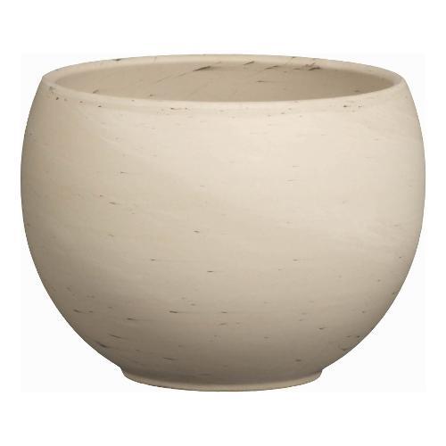 Vaso piante Corino Bruna Luna 057-136-17 ceramano composto a base di argilla effetto marmorizzato grigio chiaro D. 16,8 x h. 12,5  cm