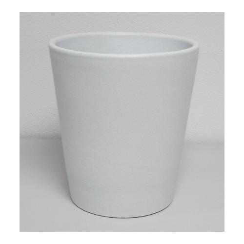 Vaso piante Corino Bruna Aurora 712/14ICE ceramica smaltata ghiaccio D. 14 x h. 14  cm