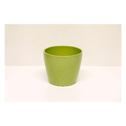 Coprivaso Corino Bruna 08/12V ceramica smaltata verde 12 x 10  cm