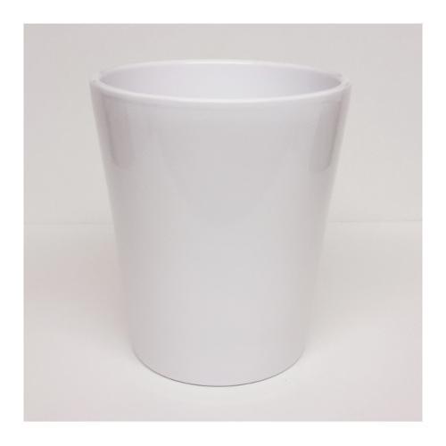 Vaso piante Corino Bruna Aurora 712/14B ceramica smaltata bianco D. 14 x h. 14  cm