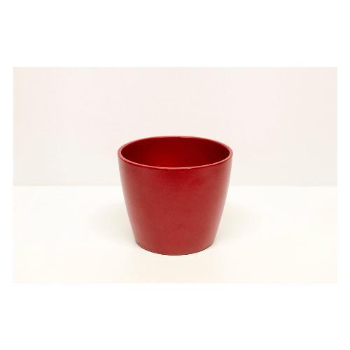 Coprivaso Corino Bruna 08/12R ceramica smaltata rosso 12 x 10  cm