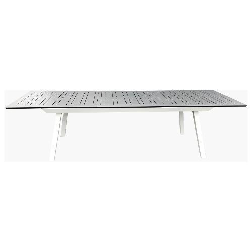 Tavolo allungabile esterno Amicasa Tavolo Sarim 216/297x100 cm Bianco/Antracite