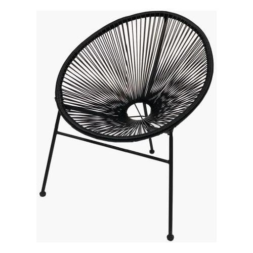 Sedia esterno Amicasa Sedia impilabile a 3 gambe Le Monde Nera Nero