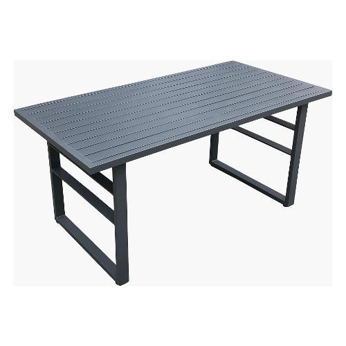 Tavolo fisso esterno Amicasa Tavolo 140x71 Loren Alluminio Grigio