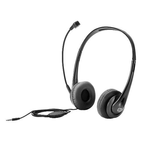 Cuffie microfono filo HP Stereo 3.5mm Headset T1A66AA - Stereo Sovraurali On Ear Mini-jack 3,5 mm