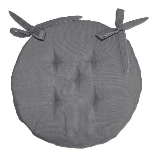Cuscino sedia Olibò cuscino TONDO d.40 c/lacci 2301 grigio