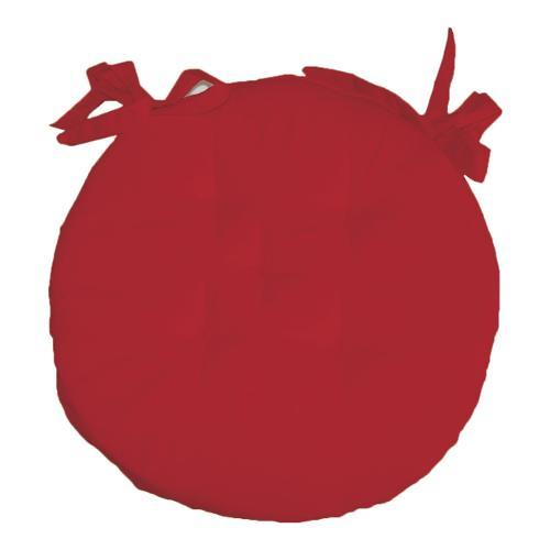 Cuscino sedia Olibò cuscino TONDO d.40 c/lacci 1201 rosso