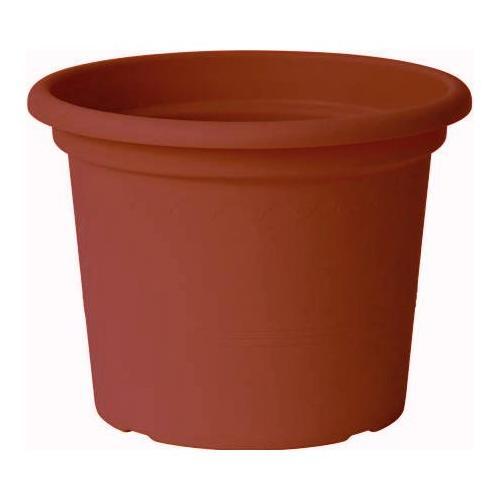 Vaso piante Euro 3 Plast Guya Greener 01/3135 polimero plastico riciclabile 100% terracotta D. 25 x h. 19  cm