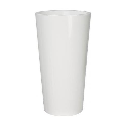 Vaso piante Euro 3 Plast Tuit 2858/03 polipropilene bianco lucido D. 40 x h. 73  cm 2858/03
