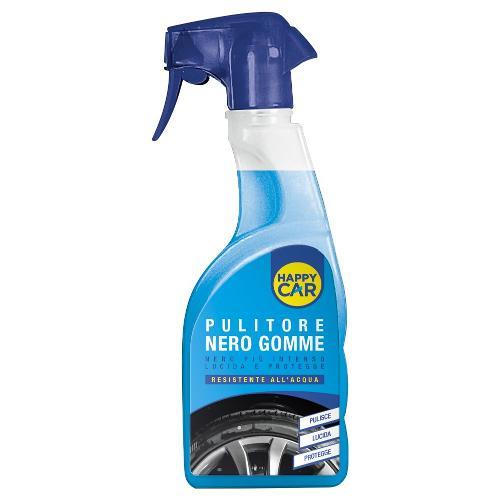 Detergente auto Labor Chimica Pulitore nero gomme Happy Car Flacone vapo 750 ml 0810