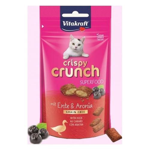 Snack gatto Vitakraft Crispy Crunch Superfood anatra Busta 60 gr 39315