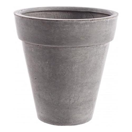 Vaso piante Bizzotto CEMENT fibra di vetro e argilla grigio D. 45 x h. 46  cm 0790555