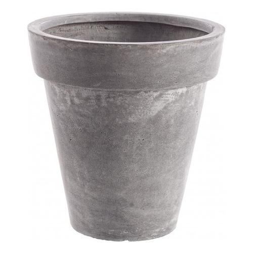 Vaso piante Bizzotto CEMENT fibra di vetro e argilla grigio D. 37 x h. 38  cm 0790554