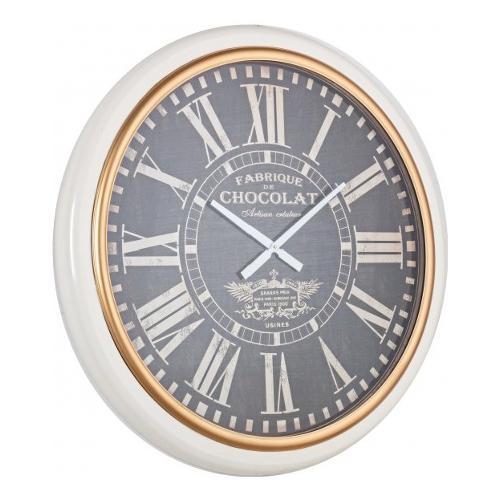 Orologio da parete Bizzotto CHOCOLAT bianco e grigio 88 x 8  cm 0181796