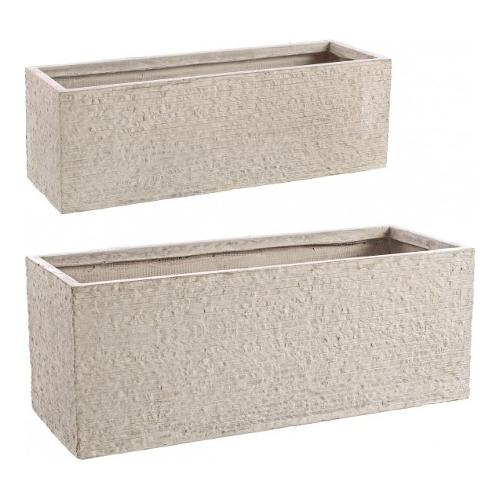 Set vasi piante Bizzotto ROCCIA sabbia 0790552