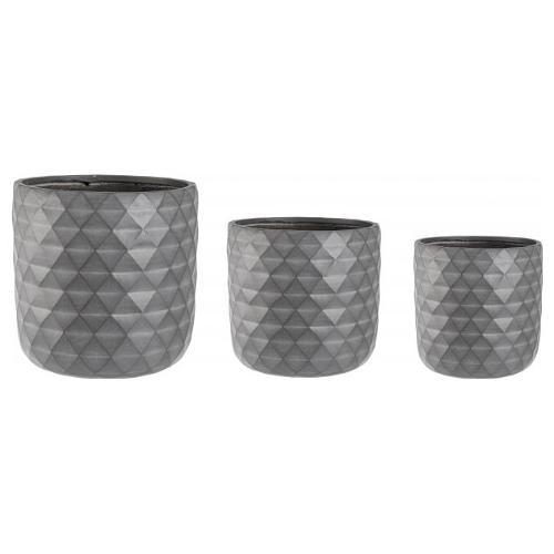 Set vasi piante Bizzotto PYRAMID antracite 0790636