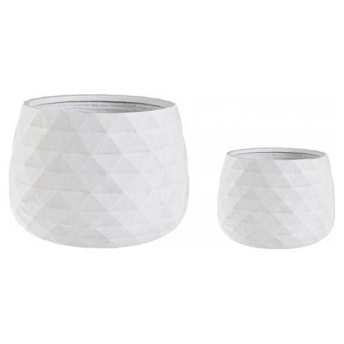 Set vasi piante Bizzotto PYRAMID bianco 0790635