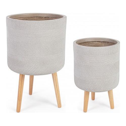 Set vasi piante Bizzotto RIGO beige 0790612