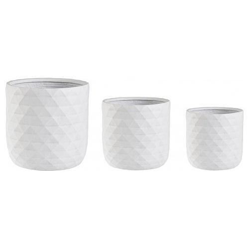 Set vasi piante Bizzotto PYRAMID bianco 0790638