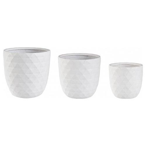 Set vasi piante Bizzotto PYRAMID bianco 0790641
