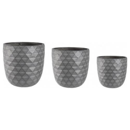 Set vasi piante Bizzotto PYRAMID antracite 0790639