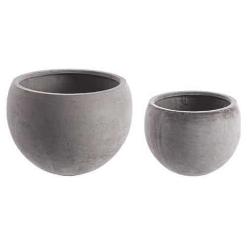 Set vasi piante Bizzotto CEMENT grigio 0790553