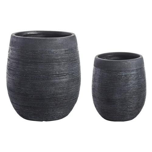 Set vasi piante Bizzotto GRAFFITI nero 0790572